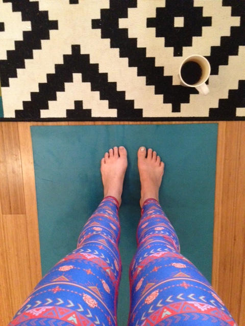 Note to self: get out of bed before attempting yoga.