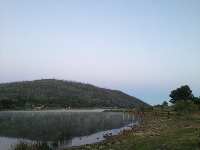 lake cuyamaca sunrise